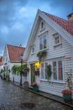 Gamle Stavanger. White houses in Gamle Stavanger in Norway Stock Image