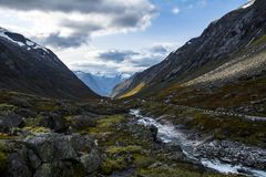 Gamle Strynefjellsvegen. National Tourist Routes in Norway Royalty Free Stock Photo