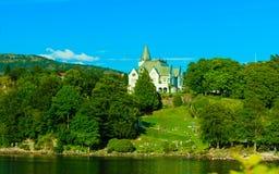 Gamlehaugen mansion on July 22, 2014 in Bergen, Norway. Stock Image