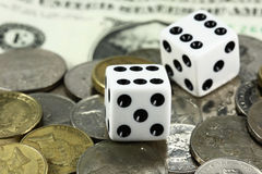 gamling χρήματα Στοκ Εικόνες