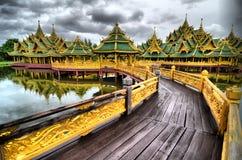 Gamlingslott i Thailand Arkivfoto