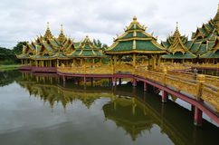 Gamlingslott i Thailand Royaltyfri Fotografi