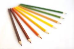 Gamm di autunno dei pensils di colore Immagine Stock