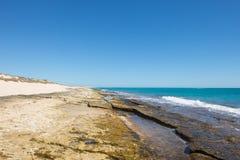 Gamma Australia del capo della costa della scogliera di Ningaloo fotografia stock