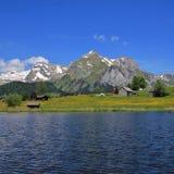 Gamma di Alpstein e lago Schwendisee Immagine Stock Libera da Diritti