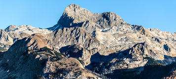 Gamma di alta montagna di alpi in Europa Slovenia Austria Fotografie Stock Libere da Diritti