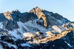 Gamma di alta montagna di alpi in Europa Slovenia Austria Fotografia Stock