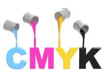 Gamma di colori CMYK Fotografia Stock Libera da Diritti