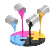 Gamma di colori CMYK Fotografia Stock