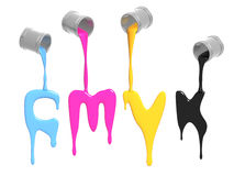 Gamma di colori CMYK Immagini Stock