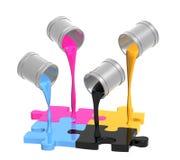 Gamma di colori CMYK Immagine Stock