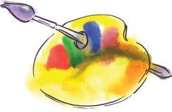 Gamma di colori con la spazzola Royalty Illustrazione gratis