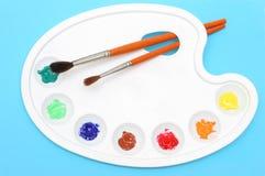 Gamma di colori dei pittori Fotografia Stock