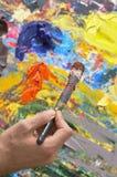 Gamma di colori del pittore Fotografie Stock Libere da Diritti