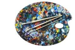 Gamma di colori del pittore Fotografia Stock
