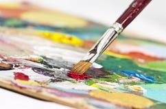 Gamma di colori dell'artista Fotografia Stock