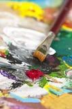 Gamma di colori dell'artista Fotografie Stock Libere da Diritti
