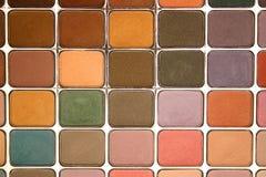 Gamma di colori dell'ombretto fotografie stock libere da diritti