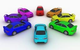 Gamma di colori delle automobili Fotografia Stock