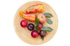Gamma di colori delle frutta e delle verdure di autunno Fotografie Stock