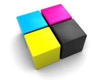 Gamma di colori di Cmyk Fotografia Stock