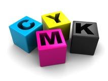 Gamma di colori di Cmyk Fotografie Stock Libere da Diritti
