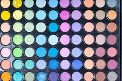 Gamma di colori di trucco fotografia stock libera da diritti