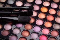 Gamma di colori di trucco Fotografie Stock Libere da Diritti