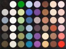 Gamma di colori di trucco Immagini Stock