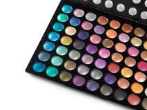 Gamma di colori di trucco dell'ombretto Fotografie Stock Libere da Diritti