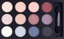 Gamma di colori variopinta delle ombre di occhio Fotografia Stock
