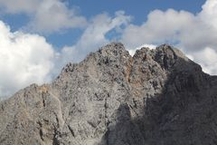 Gamma di Karwendel nelle alpi bavaresi Immagini Stock Libere da Diritti