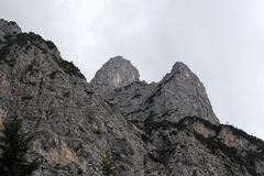 Gamma di Karwendel nelle alpi bavaresi Fotografia Stock Libera da Diritti