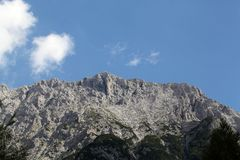 Gamma di Karwendel nelle alpi bavaresi Fotografia Stock