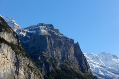 Gamma di montagne alpina Fotografie Stock Libere da Diritti