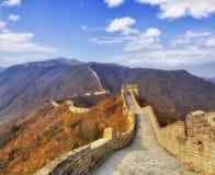 Gamma di orizzonte della grande muraglia della Cina sul PORCINO immagini stock libere da diritti