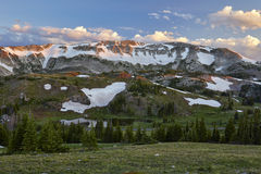 Gamma di Snowy, Wyoming immagine stock libera da diritti