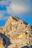 Gamma dopo il tramonto, alpi di Tofana della dolomia Fotografia Stock
