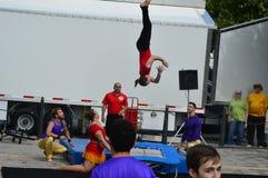Gamma Phi Circus acrobats Royalty Free Stock Photos