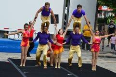 Gamma Phi Circus acrobats Performance Stock Photography