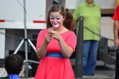 Gamma Phi Circus Clown Royalty Free Stock Photography