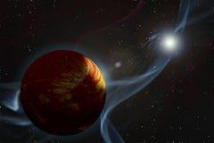Gamma Ray Burst. Doomsday Event Royalty Free Stock Photo