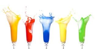 gammafärgstänk Fotografering för Bildbyråer