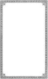 Gammal åldrig grungy karaktärsteckning för sida för bokpappersark, isolerat svart utrymme för rambakgrundskopia Royaltyfri Fotografi