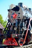 Gammal ångalokomotiv Royaltyfria Bilder