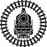 Gammal ångalokomotiv Arkivbild
