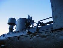 Gammal ångalokomotiv Arkivfoto