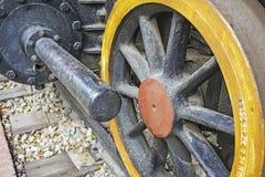 Gammal ångalokomotiv för hjul Royaltyfria Foton