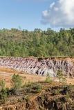 Gammal ångalokomotiv som överges i den Rio Tinto minen Fotografering för Bildbyråer