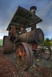 gammal ångatraktor för lantgård Royaltyfri Foto